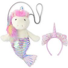 Girls The Children's Place Unicorn Mermaid Purse Bag & Headband Birthday