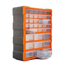 39 Multi Drawer Parts Storage Cabinet Unit Organiser Home Garage Tool Box