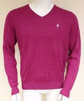 Burlington Men's L/S V-neck Fine Cotton Cashmere Sweater Jumper Size Large 60235
