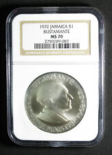 1972 Jamaica $1 One Dollar KM# 57 NGC MS-70 FLAWLESS GEM ONE AND ONLY TOP POP!!!
