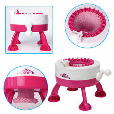 Manual Hats Scarves Knitting Machine DIY Toy Gift ABS With 2 Wool Child Kids