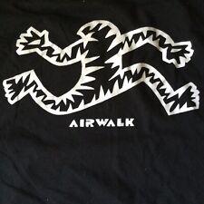 2000s Vintage Airwalk Shirt L XL - Classic Running Man Skate Surf Long Sleeve
