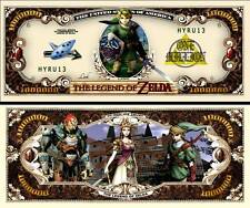 Legend of Zelda Million Dollar Bill Collectible Fake Funny Money Novelty Note