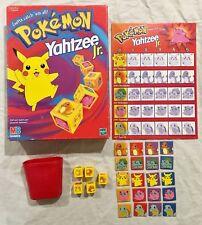 Pokemon Yahtzee Jr 2000 Nintendo MB Games Hasbro VGC Complete Vintage Pikachu