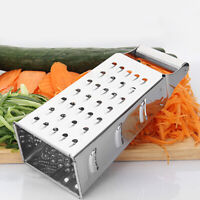 Kitchen Stainless Steel 4-Sided Box Food Grater Vegetable Cheese Slicer Shredder