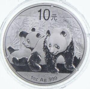 2010 China 10 Yuan - 1 Oz. Silver Panda *593
