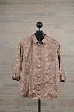 Talbots Cheetah Animal Print Button Down Shirt Women's Plus Size 2X Brown