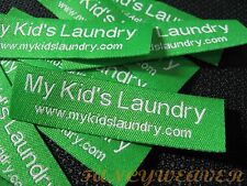 200pcs Custom Text Woven Label for Clothing / hand-made / tailor-made / designer