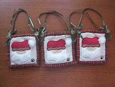 Boyds Set of 3 Quilted-St. Nick-Ornaments