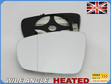 For VW POLO  2009-2016 Wing Mirror Glass Aspheric HEATED + PLATE Left Side /1051