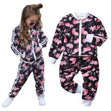 Kinder Mädchen Sport Top Hosen Jogginganzug Outfits Set Jacke Hosen Outfits Set