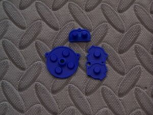 Game Boy Advance Replacement Set Of Blue Accent Color Rubber Conductive Pads