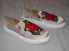 Women's Size 7 1/2 Dirty Laundry Slip On Shoes Rose Blush Floral JBSC-012 New