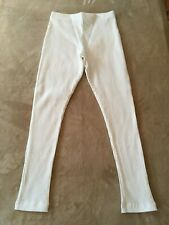Girls Busy Bees Ribbed Knit Leggings - Cream - 100% Cotton - Size 10 - MSRP $35