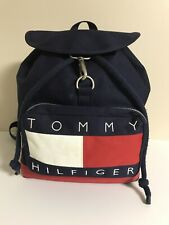 Tommy Hilfiger vintage backpack drawstring canvas bag