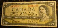 1954 $20 Devil's Face Prefix B/E3903948 Coyne/Towers Banknote