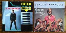 Claude François Remix 90's : J'attendrai/Même si tu revenais Lot 2 Vinyles 45T