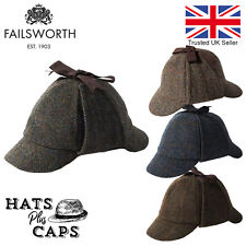 Failsworth Harris Tweed Deerstalker Sherlock Holmes Hat