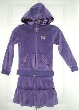 Arizona Girls Purple Velour Hoodie Skort Outfit Xl 6X
