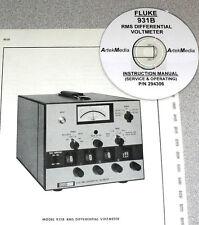 FLUKE 931B  Volmeter Instruction (Ops & Serv) Manual