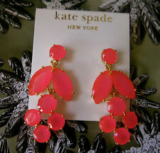 NWT Kate Spade NY 14K Filled Marquee Chandelier Earrings in FLO PINK GLOWING