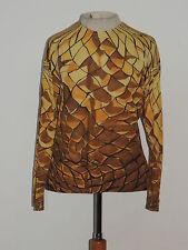 Jeanne Lanvin - Paris Silk Knit Print Blouse / Top SM - MED - France
