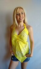 Yellow Ladies Bandana Halter Top, Made in USA