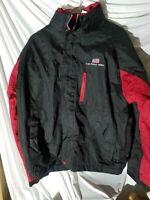 Vintage U.S. Polo Assn Jacket Windbreaker Fleece Lined Men's Size M black red