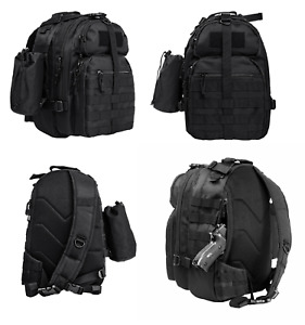 NcStar Heavy Duty BLACK Sling Backpack Conceal Carry CCW Pistol Compartment