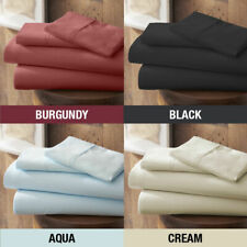 Queen Size 8-30 in Extra Deep Pkt Solid Color 1200 Thread Count Bed Sheet Set
