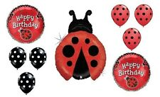 LADYBUG Lady Bug Polka Dots Birthday PARTY 9 Mylar and Latex BALLOONS Set Kit