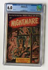 Nightmare #12 * CGC 6.0 * Precode Horror St John 1954 Torture Cover