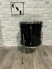"""More details for black floor tom drum 16""""x 16"""" / with legs"""