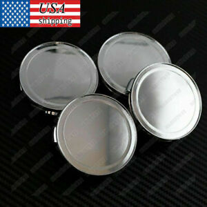 Set of 4 76mm  Universal Auto Wheel Center Hub Caps Chrome Silver Chrome C528501