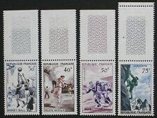 1956 France MNH ** Scott 801-804; Mi 1100-1103