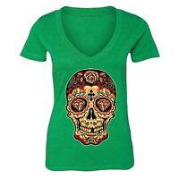 Sugar Skull Day of the Dead T-shirt Diamond Mexican Gothic Dia Los Muertos shirt