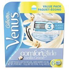 Gillette Venus comfortglide Vainilla crème Recarga Blade, 6 Cartuchos