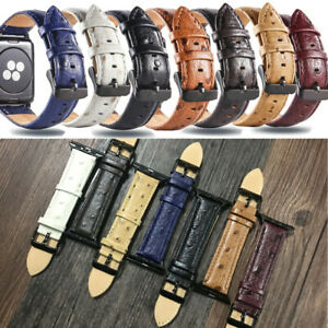 Genuine Leather Strap Band Bracelet for Apple Watch Series5 4 3 2 44/42mm iWatch