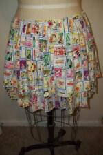 EDDIE RODRIGUEZ Multi-colored POSTAGE STAMP Theme Two Tier Silk Skirt  8