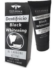 Dentifricio Carbone Attivo EUFARMA Aloe Vera e Limone Nero Sbiancamento Denti