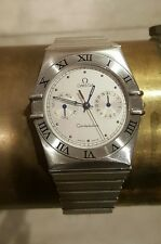 AUTHENTIC OMEGA CONSTELATION DAY DATE CHRONO MENS LADIES STAINLESS STEEL WATCH