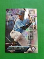 JESUS SANCHEZ 2018 BOWMAN CHROME CARD JS RAY'S  MEGA BOX MOJO (ROOKIE REFRACTOR)