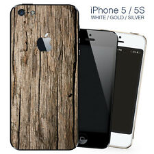 Brown Wood Design vinyl skin Sticker for Apple iPhone 5, 5S, SE, back cover only