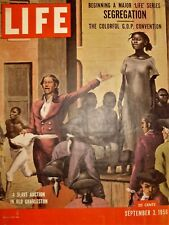 New listing 1956 Life Magazine.The Background of Negro Segregation