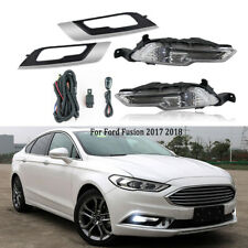 LED Fog Light For Ford Fusion 2017 2018 DRL Front Lamps Grill Cover w/ Bulbs Kit