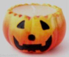 Lindo De Cerámica Calabaza Perfumado sostenedor De Vela Halloween Linterna Decoración (redonda)