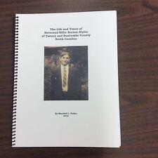 Life & Times of Rev. Billy Burton Styles, Yancey & Buncombe Counties, genealogy