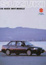 Suzuki Swift Prospekt 1989 Autoprospekt Broschüre Auto PKWs brochure broschyr
