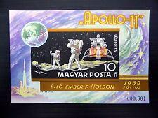 HUNGARY 1969 Man on the Moon RARE Imperf U/M FP9383