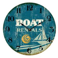 """Reloj de pared 30cm con fijación en Madera Beach Diseño"""" Barco Rentals"""" PLAYA"""
